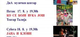 Teatar na Savi – Repertoar za avgust