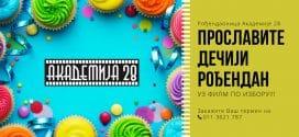 Proslavitе rođendan u Rođendaonici Akademije 28