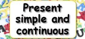 Test Engleski jezik, Šesti razred, Present Simple andPresent Continuous