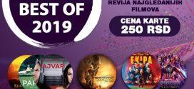 REVIJA NAJGLEDANIJIH FILMOVA U 2019. GODINI OD 23. DO 29. JANUARA U KOMBANK DVORANI