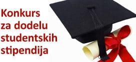 Konkurs za dodelu studentskih stipendija za 2018/2019. godinu