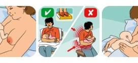 Položaji za dojenje, pravilno postavljanje bebe na dojku