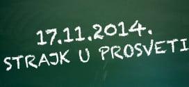 Od 17. novembra štrajk u prosveti