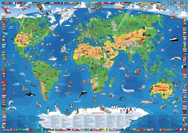 mapa sveta kontinenti Dečija karta sveta mapa sveta kontinenti