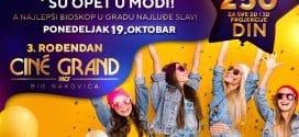 Treći rođendan bioskopa Cine Grand u ponedeljak 19. oktobra uz niže cene ulaznica