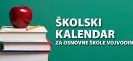 Školski kalendar za osnovne škole Vojvodine 2019/2020