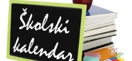 Školski kalendar za srednje škole centralne Srbije 2019/2020